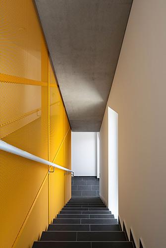 Wohnen an der Donau Innenansicht Treppenhaus