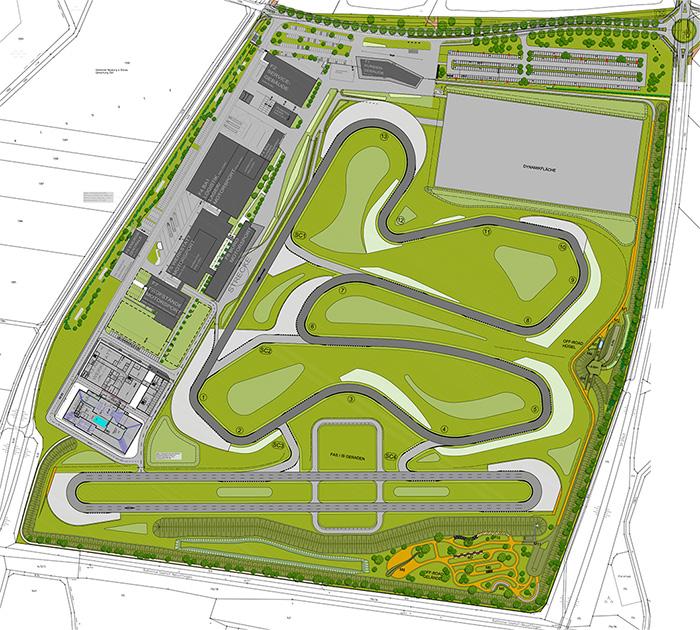 AUDI Aerodynamik Enwircklungszentrum Plan