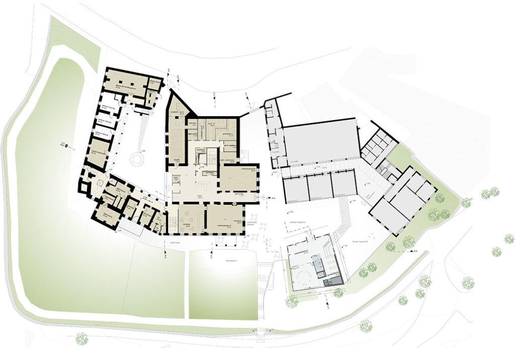 Alten-und Pflegewohnheim mit Maedchenwohnheim Grundriss Erdgeschoss