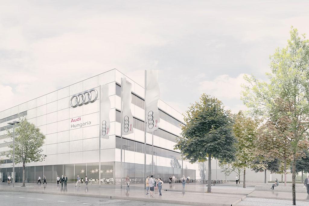 Audi Ungarn Aussenansicht