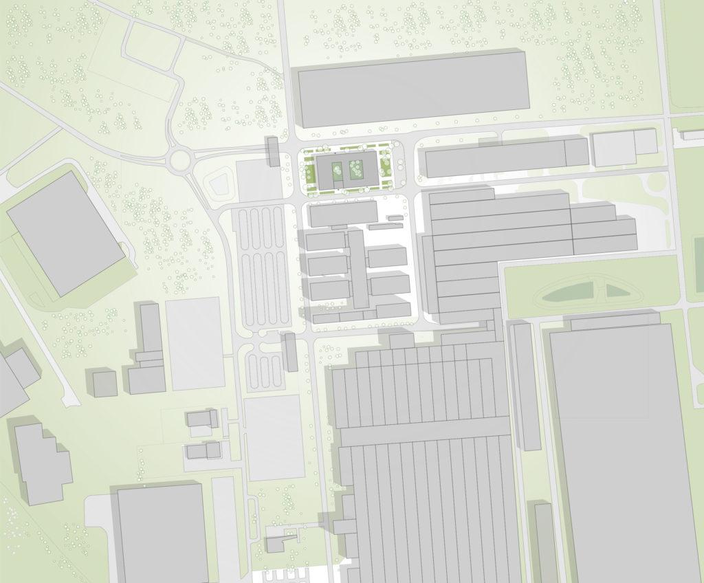 Audi Ungarn Plan mit Flächen