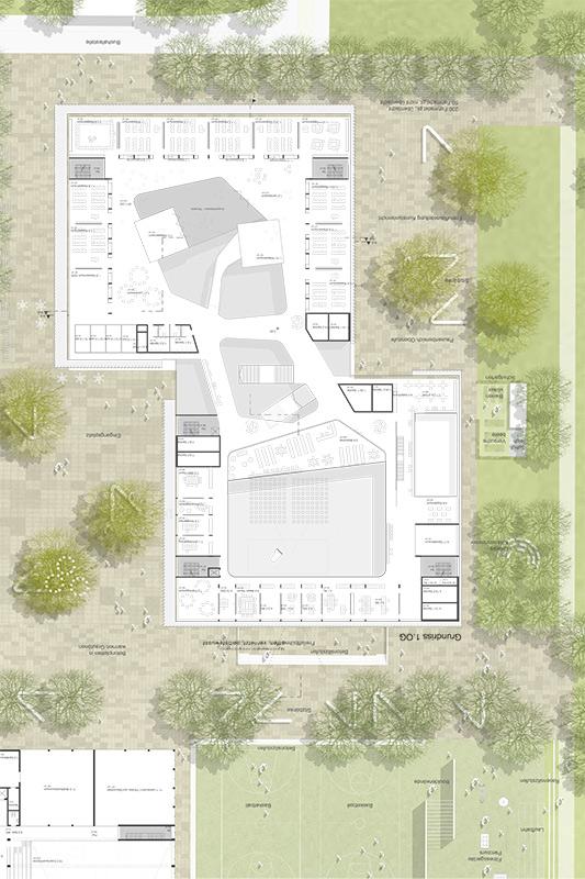Campus Kirchheim Grundriss Erdgeschoss
