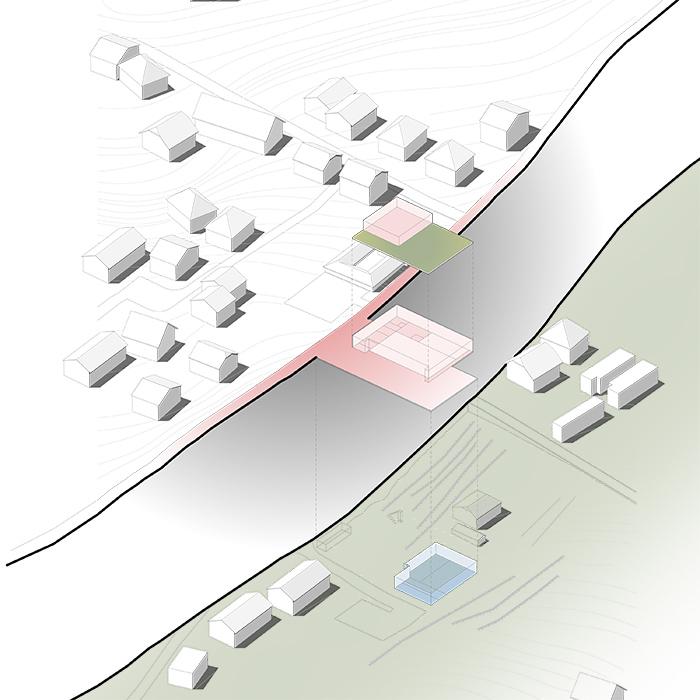 Feuerwehr und Buergerkapelle Gundriss Ebene Plan von oben