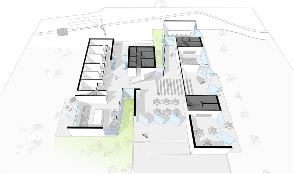 Grundschule in Rennertshofen Perspektive Erdgeschoss