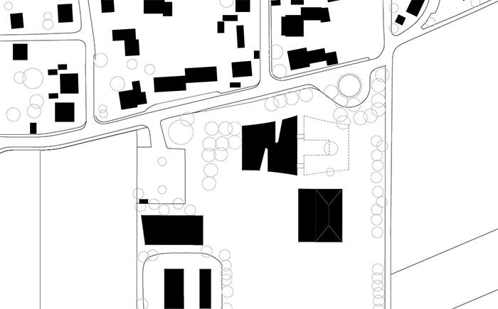Grundschule in Rennertshofen Schwarzplan