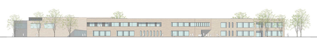 Grundschule mit Sporthalle Karlsfeld Seitenansicht 1