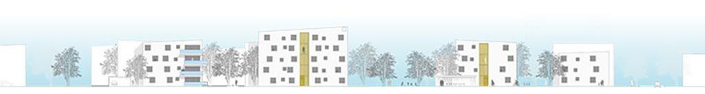 Siedlungsentwicklung Wörgl mit neuem Zentrum Seitenansicht