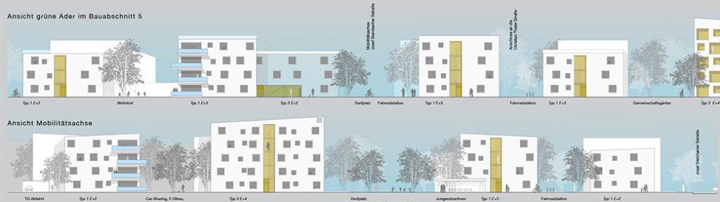 Siedlungsentwicklung mit neuem Zentrum Seitenansicht 2a