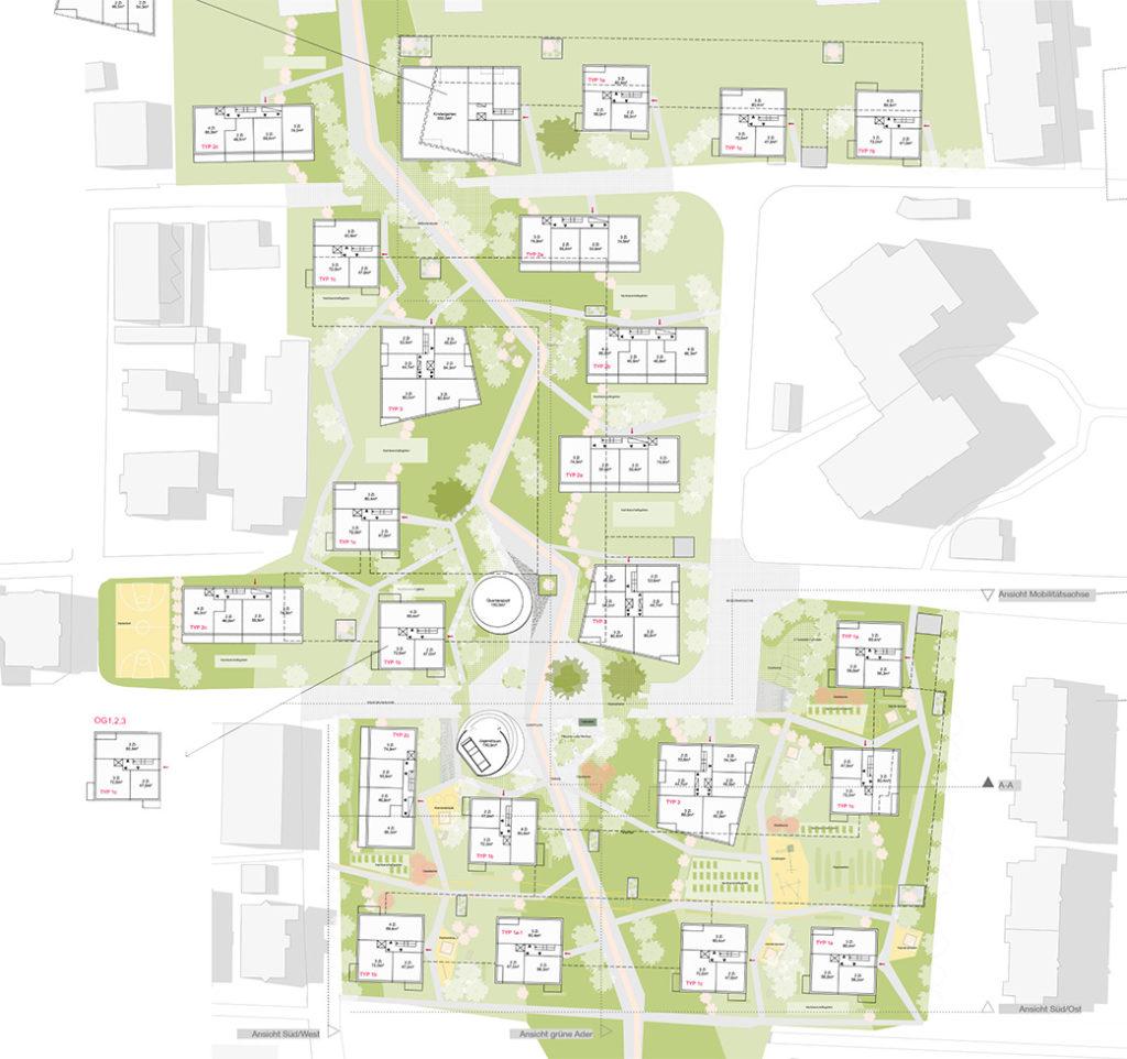Siedlungsentwicklung mit neuem Zentrum Wörgl Plan der Anlage