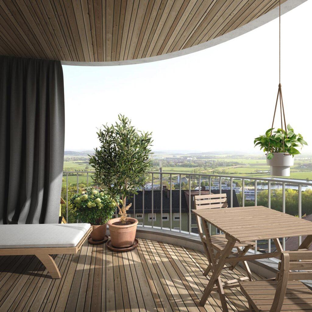 Wohnbebauung Cham Terrasse