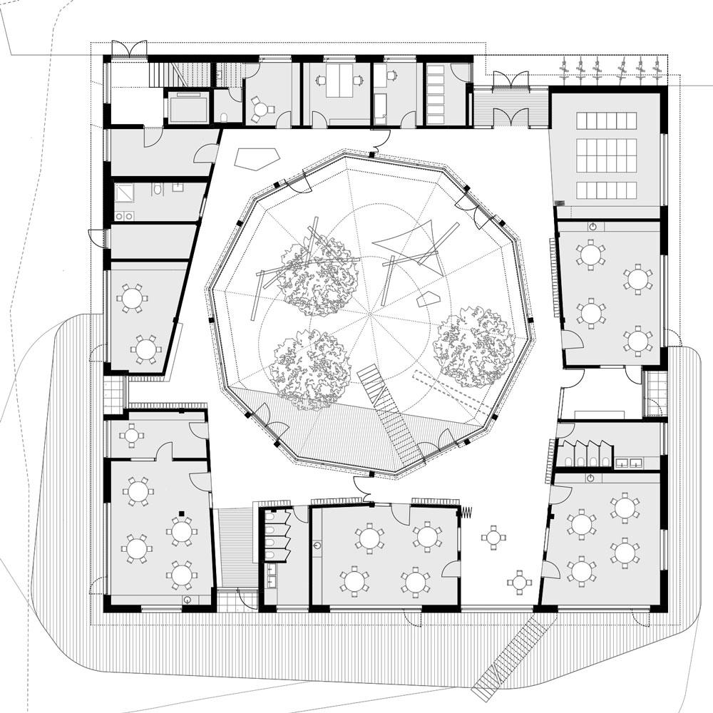 Bayerisches Rotes Kreuz Grundriss Erdgeschoss