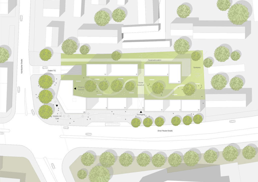 Ernst-Reuter-Straße Hof Lageplan