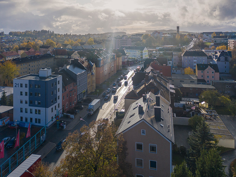 aErnst-Reuter-Straße Hof, Luftbild