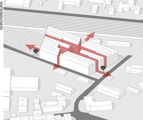 Kreativ Kraftwerk Lageplan Durchwegung