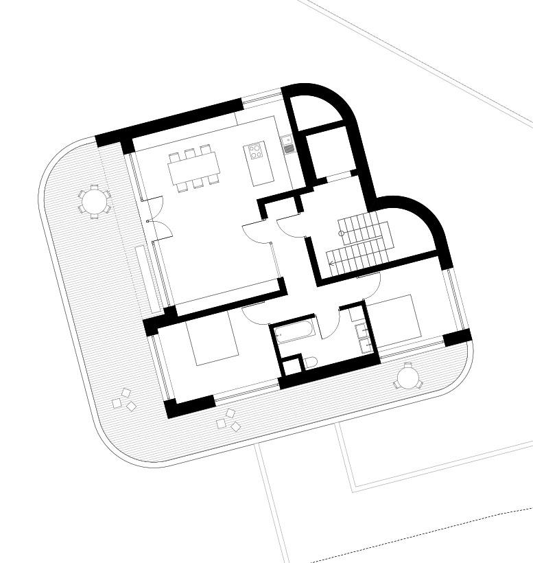 Wohnbebauung Cham Grundriss DG