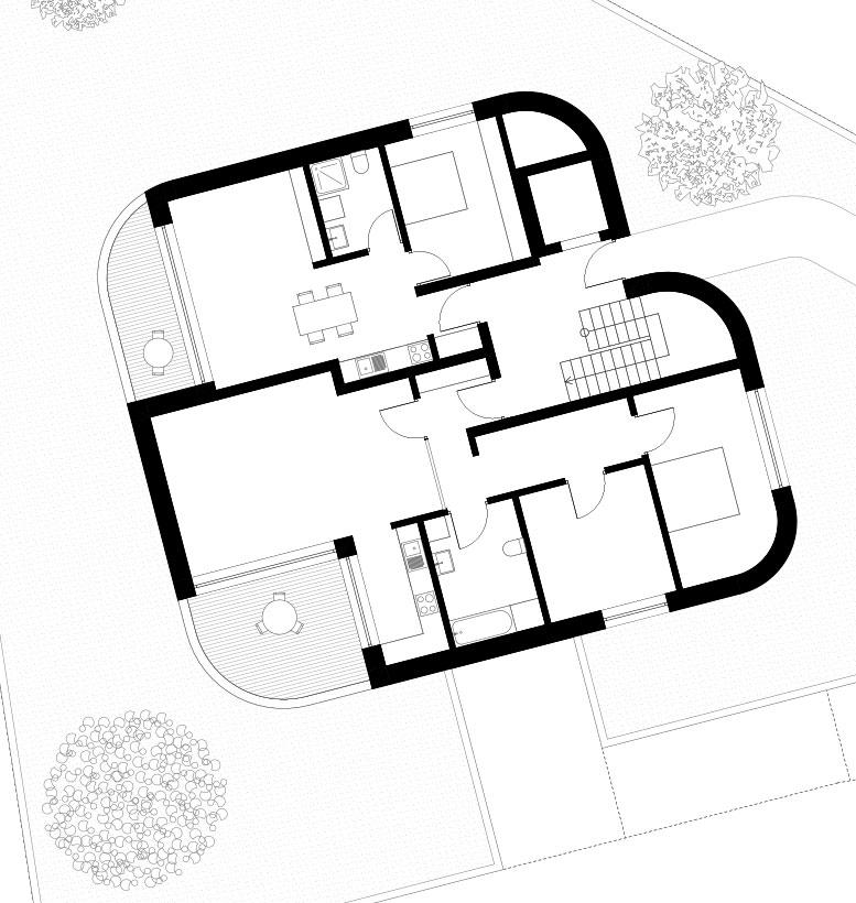 Wohnbebauung Cham Grundriss EG