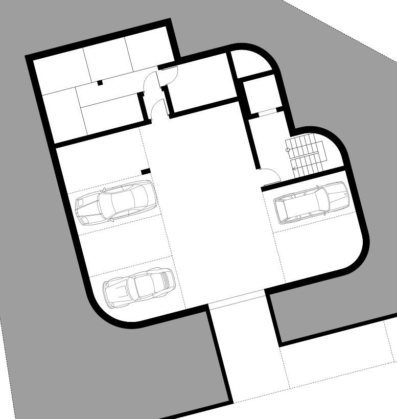 Wohnbebauung Cham Grundriss UG